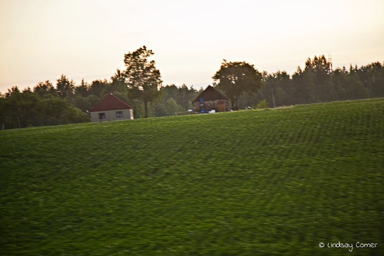 The green Lithuanian countryside.
