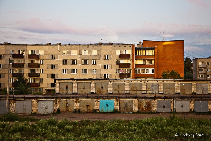 Soviet era apartment building in Latvia.