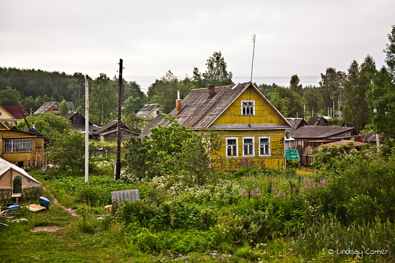 A house somewhere outside of Saint Petersburg, Russia.