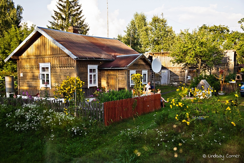 The house with sunflowers; somewhere in Lithuania.