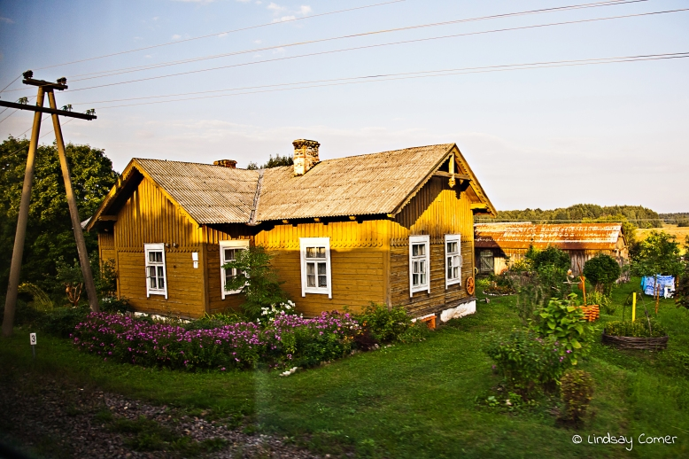 House in the countryside; Lithuania.