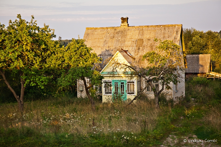 A house in the Lithuanian countryside.