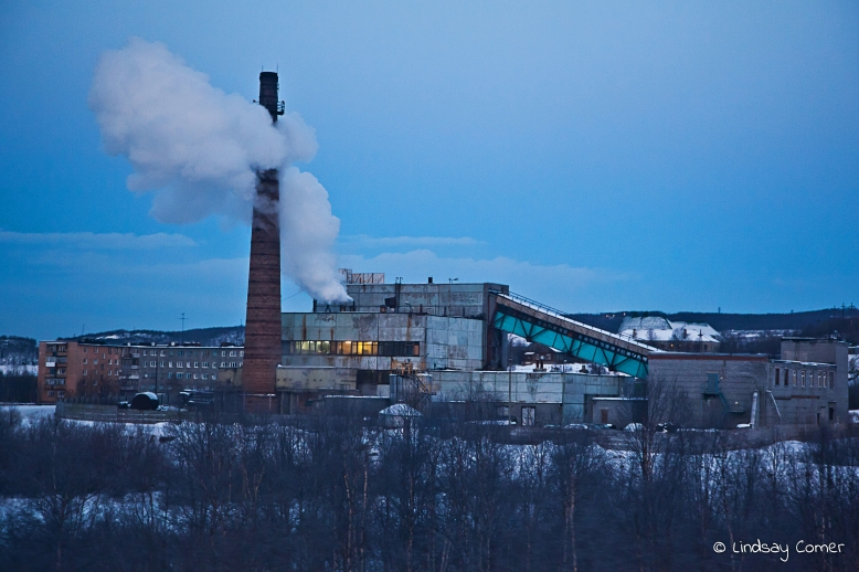 Industrial imagery on the way to Murmansk.