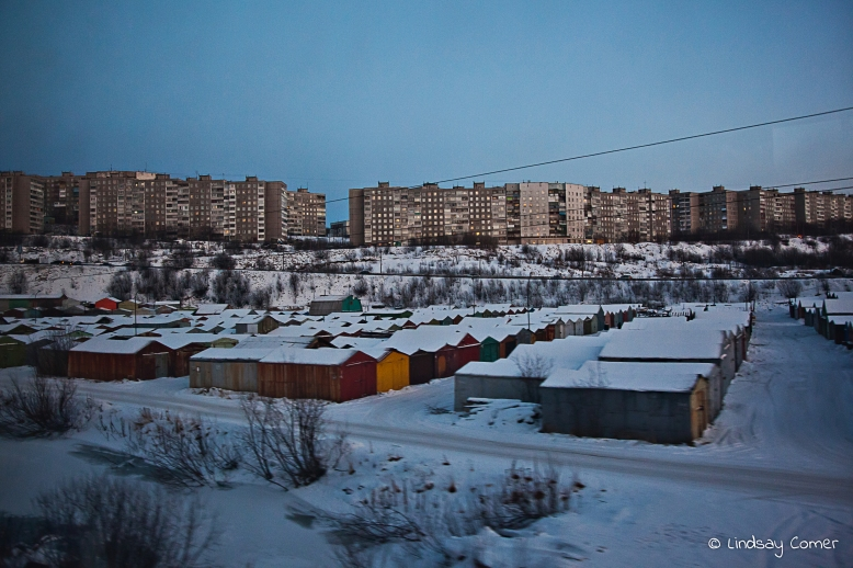 Reaching the city limits; Murmansk, Russia.