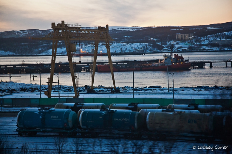 The port in Murmansk, Russia.