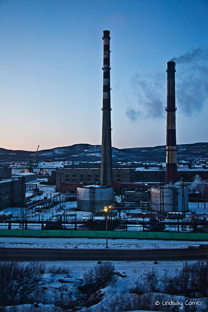 "And we're there! ""Industrial City"" Murmansk, Russia."