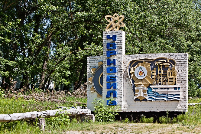 Chernobyl welcome sign.