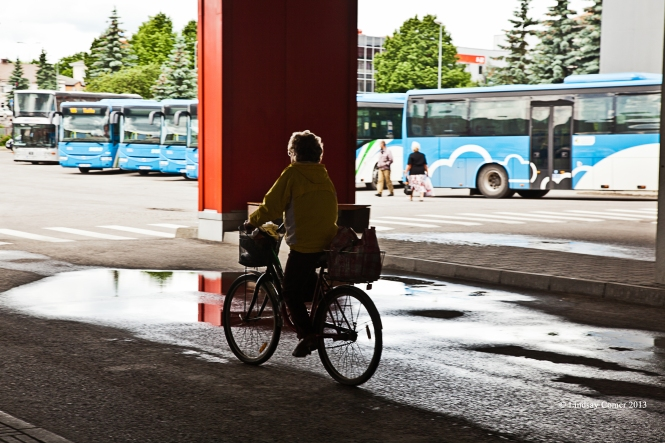 at the bus station in Jõhvi, Estonia.
