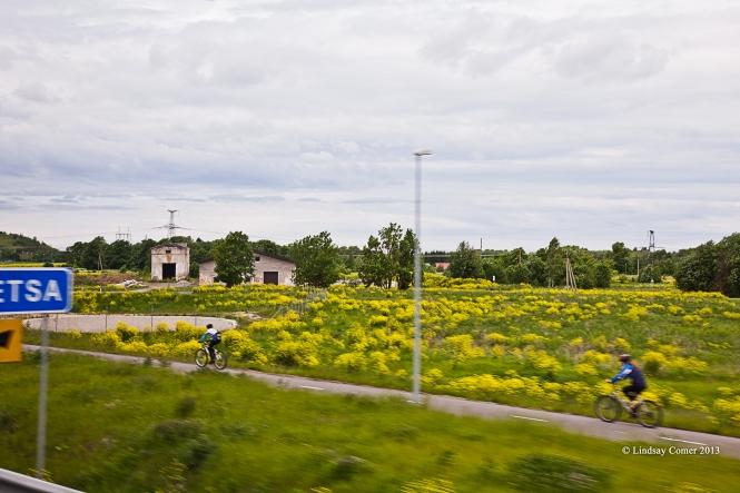 on the bus to Aseri, Estonia.