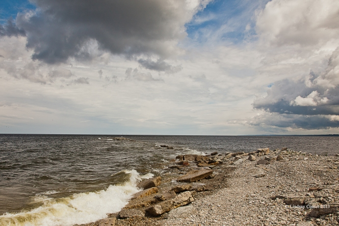 the Baltic Sea - 500 meters walk from our dacha in Aseri.