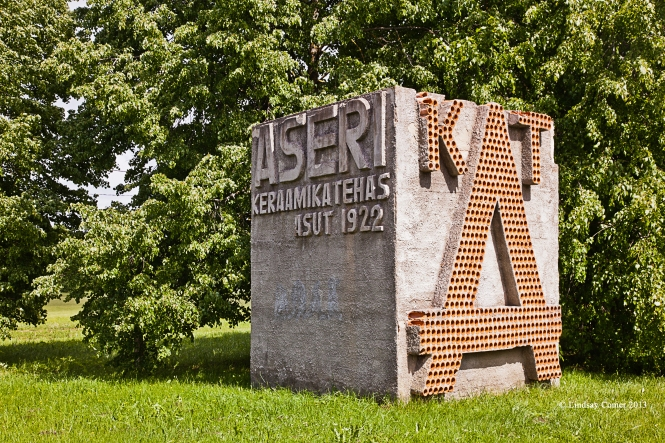The welcome sign for Aseri.