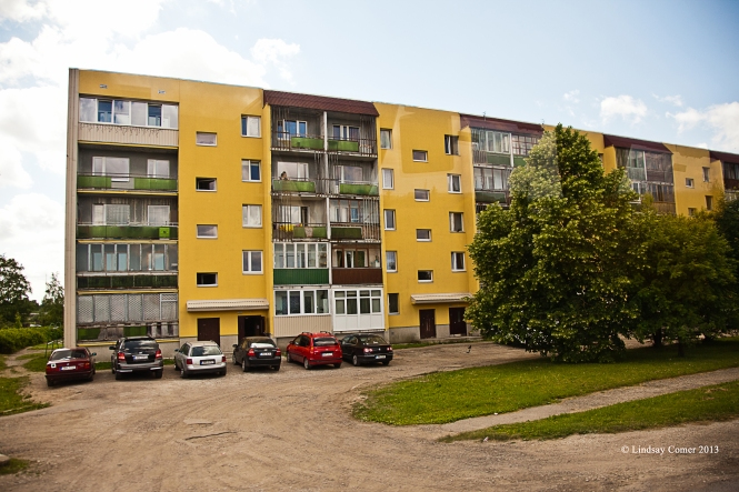 An apt. building in Johvi, Estonia.