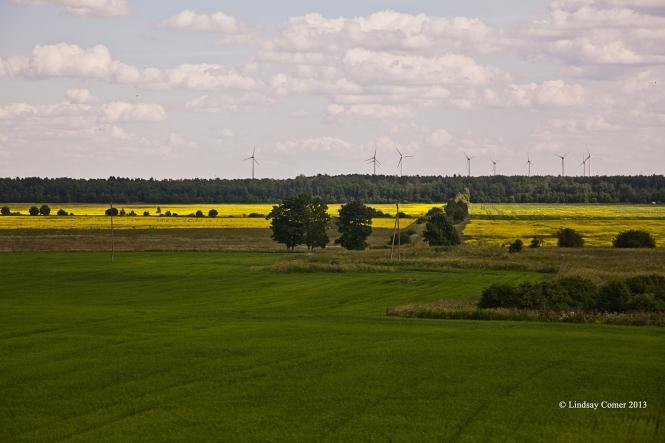 a windmill farm in Ida-Viru.