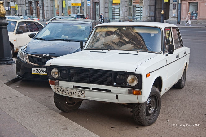 an old lada on Liteynyy Prospekt.