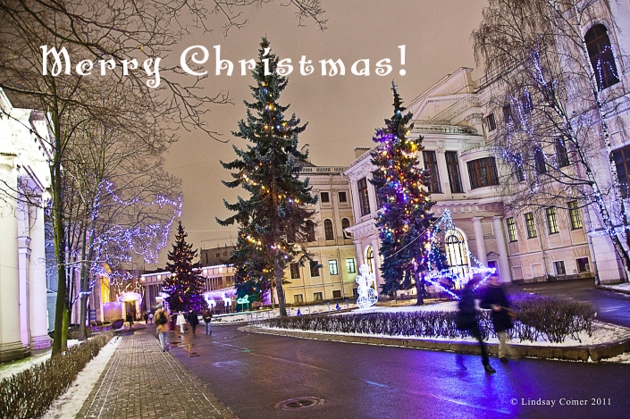 Merry Christmas to all! Saint Petersburg, Russia, 2011.