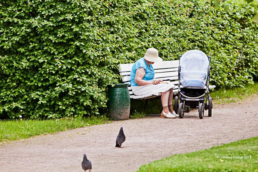 in the upper park - Peterhof.