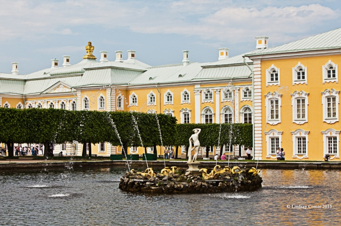 the upper park, Peterhof.