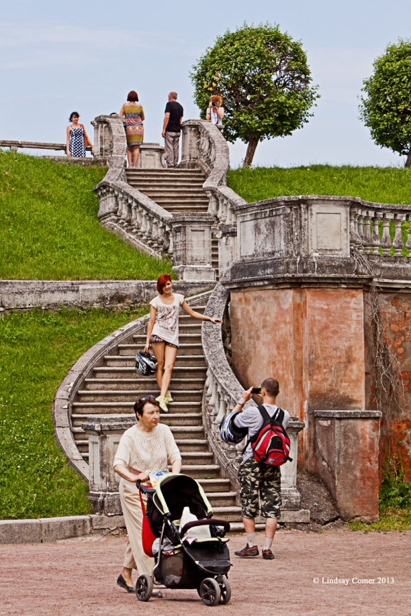 stairway on the hill.