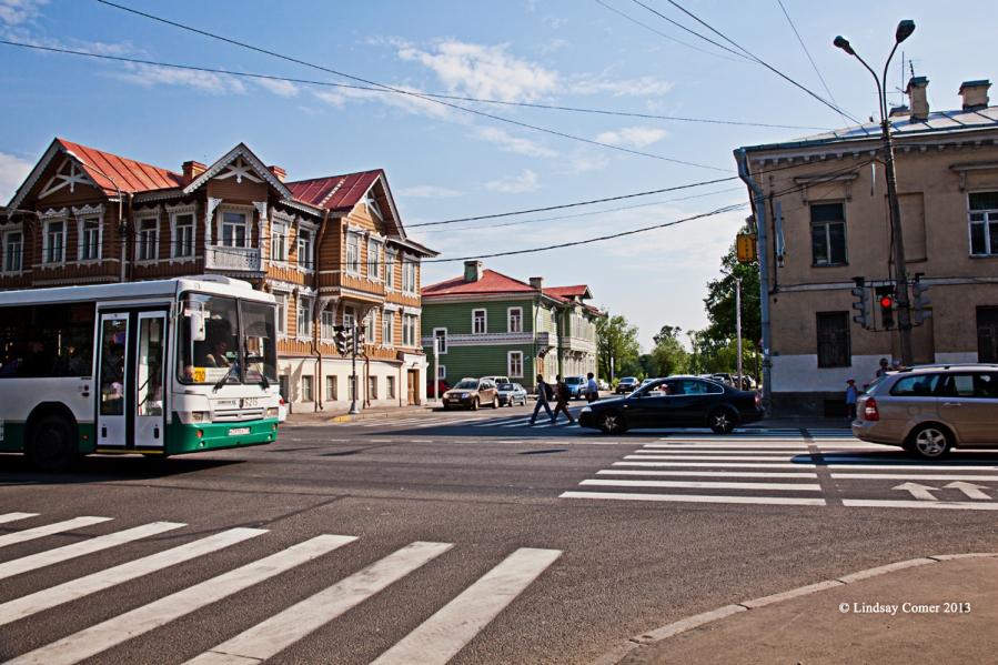 the center of town, Peterhof.